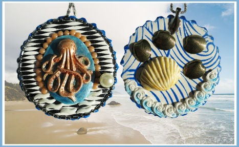 2018 Beach Pendant front and back